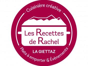 LES RECETTES DE RACHEL - Logo fond rouge CMJN
